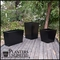 Custom Set Of Modern Tapered Planters - Black