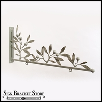 Custom Sign Bracket  - Antique White Olive Leaves