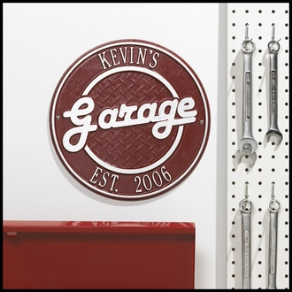 Custom Wall Mount Novelty Sign - Garage Plaque