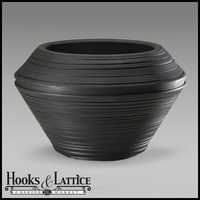 Danbury 22in. Round Planter - Caviar Black