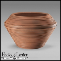 Danbury 29in. Round Planter - Rust
