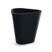 Dao 16in. Modern Triangle Planter - Caviar Black