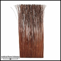 6' Dark Coffee Willow Screen