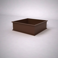 Dartington Low Profile Square Planter 36in.L x 36in.W x 12in.H