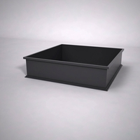 Dartington Low Profile Square Planter 48in.L x 48in.W x 12in.H