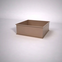 Dartington Low Profile Square Planter 48in.L x 48in.W x 18in.H