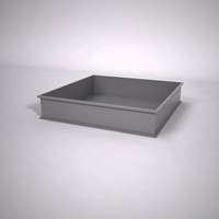 Dartington Low Profile Square Planter 60in.L x 60in.W x 12in.H