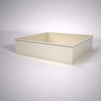 Dartington Low Profile Square Planter 72in.L x 72in.W x 18in.H