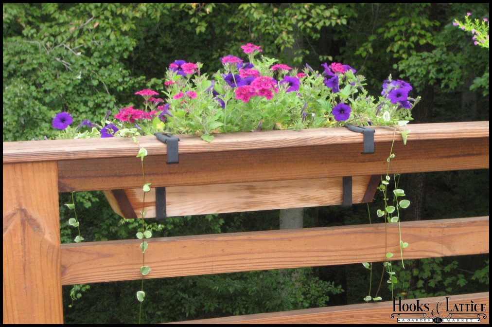 Deck railing brackets flowerbox deck railing brackets - Planters to hang on railing ...