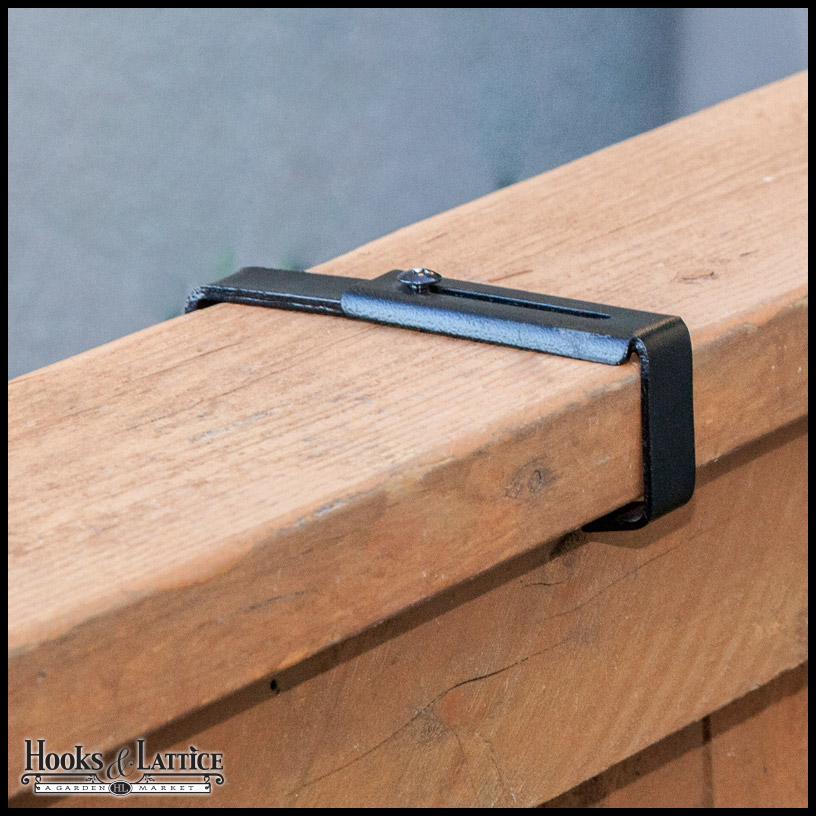 "Deck Railing Bracket For 9"" Wide Planter Boxes- Fits All"