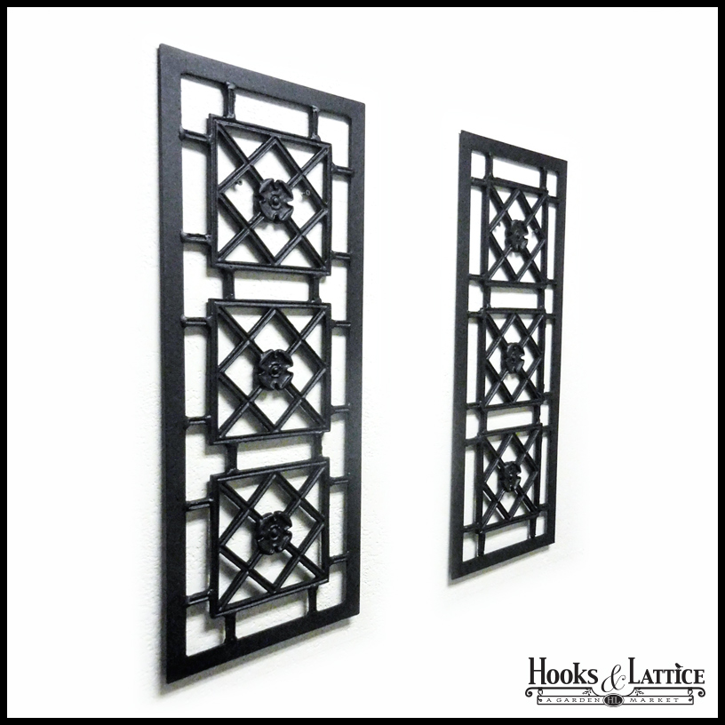 aluminum decorative exterior shutters hooks lattice. Black Bedroom Furniture Sets. Home Design Ideas