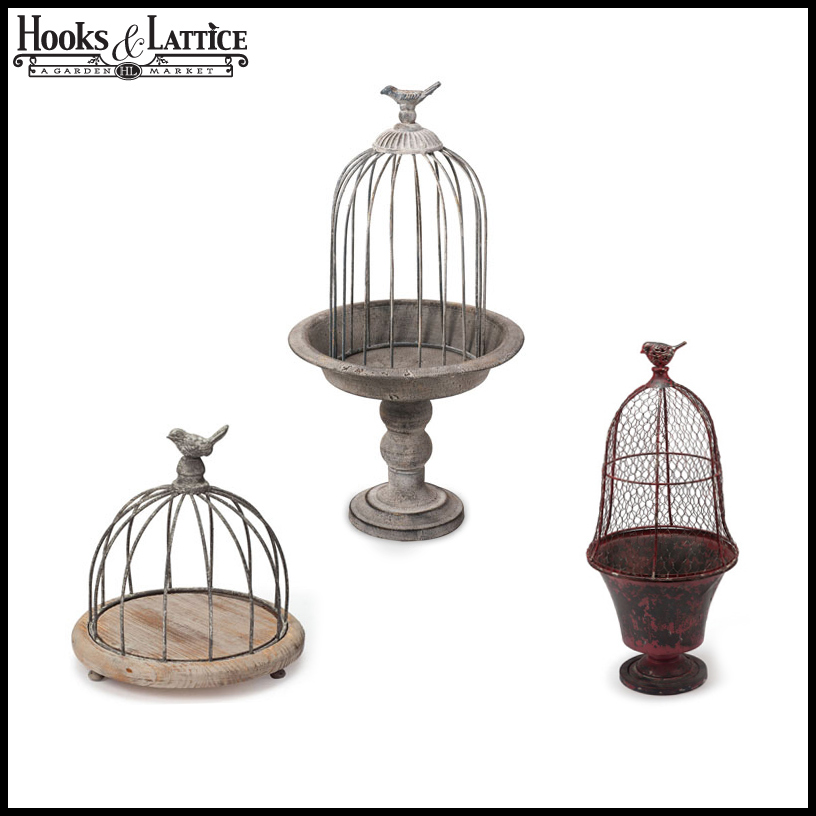 decorative bird cages bird cage planter decor. Black Bedroom Furniture Sets. Home Design Ideas
