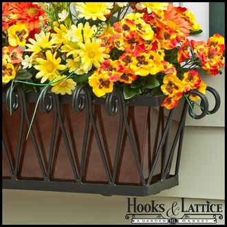 Del Mar Decora Window Box with Bronze Galvanized Liner