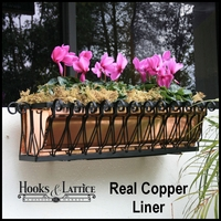 Del Mar Heights Copper Window Boxes