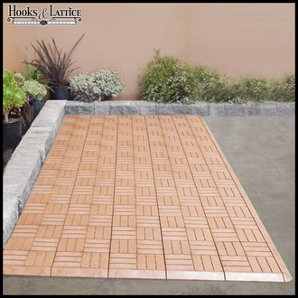 Basketweave Luxe Deck Tiles - Box of 10