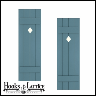 Designer Cut-Out Board & Batten Exterior Shutters