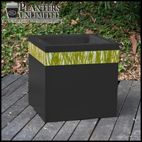 Designer Planters with Acrylic Accents