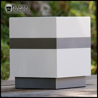 Designer Planters with Metal Accents