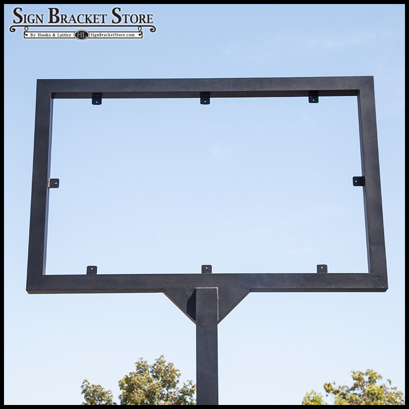 Direct Bury Metal Sign Frame 2 Sizes