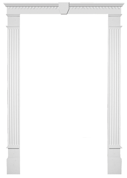 Door surrounds door pilasters door pediment door for Exterior door pediment and pilasters