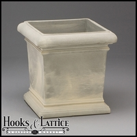 Doral 18in. Square Planter - Weathered Greystone