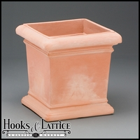 Doral 18in. Square Planter - Weathered Terra Cotta
