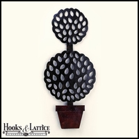 Double Ball Topiary Wall Decor