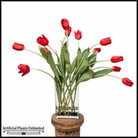 Dozen Red Tulips High Fashion Arrangement