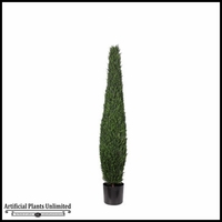 5', 6' or 7' Duraleaf Cypress Topiary Tree, Outdoor