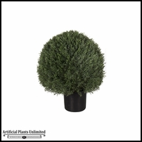 24in. Or 30in. Duraleaf Cypress Trimmed Sphere Bush, Outdoor