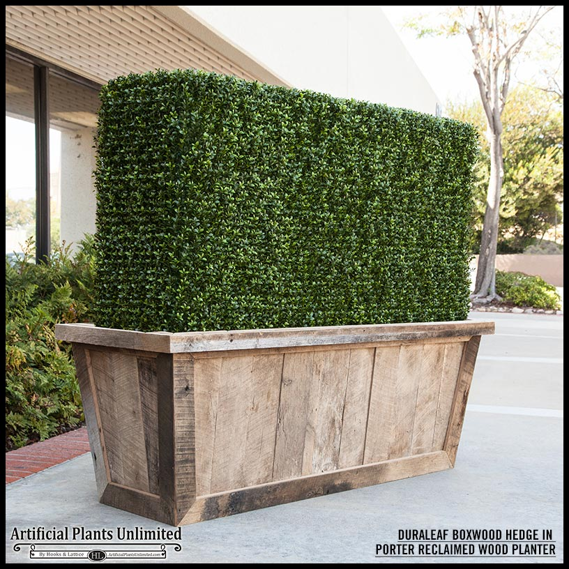 Duraleaf Boxwood Outdoor Artificial Hedge in Modern ...