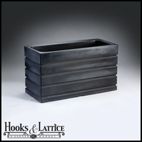Elmhurst 36in. Rectangular Planter - Caviar Black