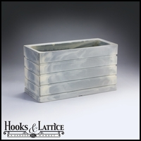 Elmhurst 36in. Rectangular Planter - Weathered Greystone