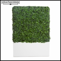 English Ivy Indoor Artificial Hedge with Modern Planter 24in.L x 12in.W