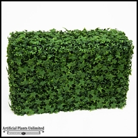English Ivy Outdoor Artificial Hedge 48inL x 12inW