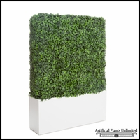 English Ivy Outdoor Artificial Hedge in Modern Planter 48inL x 12inW
