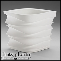 Espirit Contemporary Planter - Alpine White