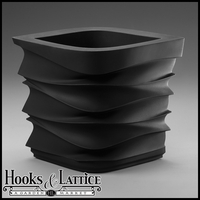 Espirit Contemporary Planter - Caviar Black