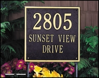 Estate Size Address Plaques
