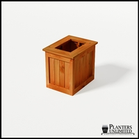 Eureka Redwood Rectangle Planter 24in.Lx18in.Wx24in.H