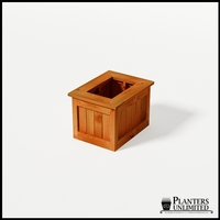 Eureka Redwood Rectangle Planter 24in.Lx18in.Wx18in.H