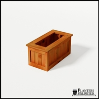 Eureka Redwood Rectangle Planter 36in.Lx18in.Wx18in.H