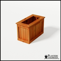 Eureka Redwood Rectangle Planter 36in.Lx18in.Wx24in.H