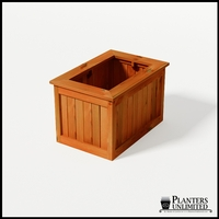 Eureka Redwood Rectangle Planter 36in.Lx24in.Wx24in.H