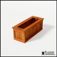 Eureka Redwood Rectangle Planter 48in.Lx18in.Wx18in.H