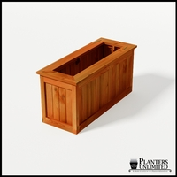 Eureka Redwood Rectangle Planter 48in.Lx18in.Wx24in.H