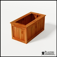 Eureka Redwood Rectangle Planter 48in.Lx24in.Wx24in.H