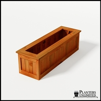 Eureka Redwood Rectangle Planter 60in.Lx18in.Wx18in.H