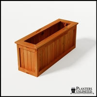 Eureka Redwood Rectangle Planter 60in.Lx18in.Wx24in.H