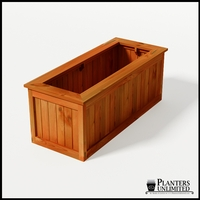 Eureka Redwood Rectangle Planter 60in.Lx24in.Wx24in.H